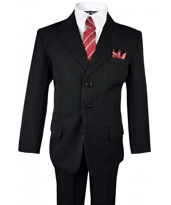 Black Bianco Boys Pinstripe Matching