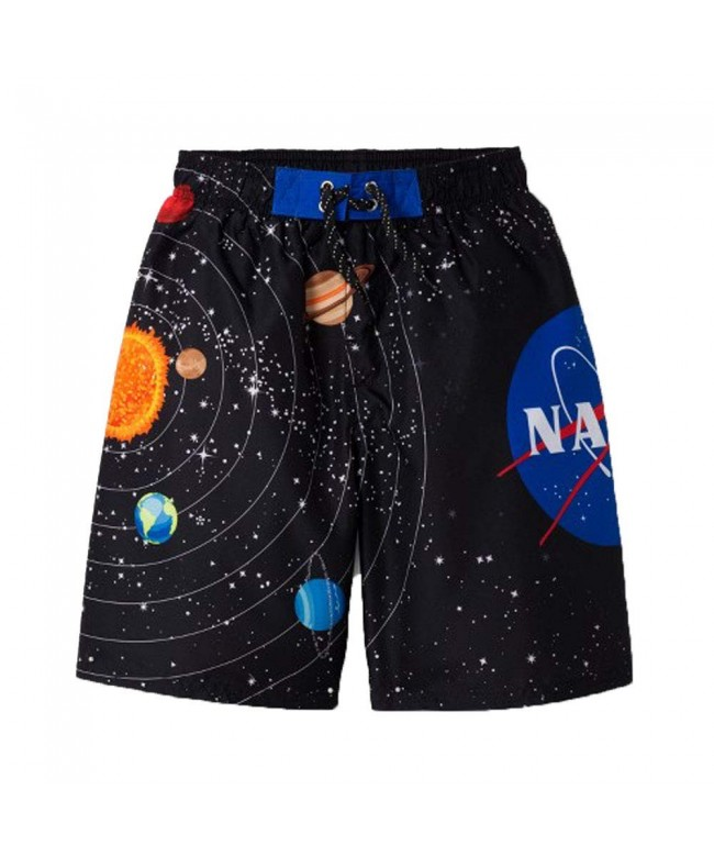 Boys NASA Swim Trunks Black Medium