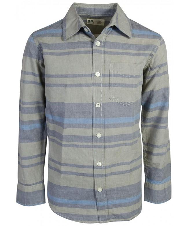 p s aeropostale Sleeve Button Shirt