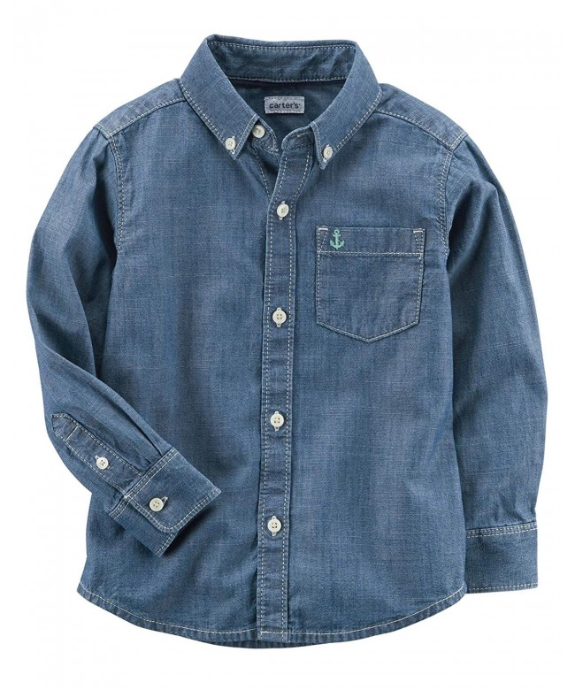 Carters Charters Sleeve Chambray Button Front