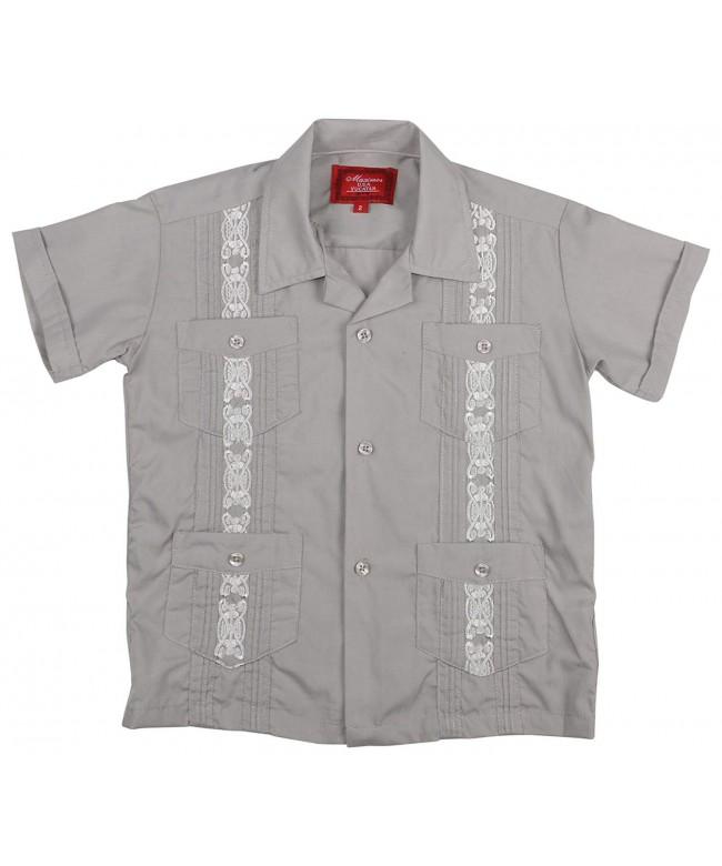 Crowns Essentials Guayabera Button Shirt