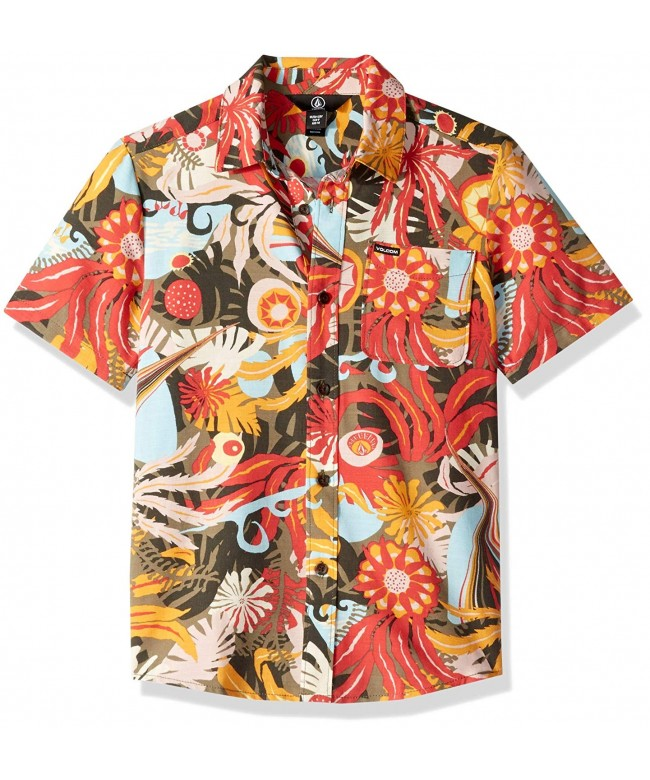 Volcom Psych Floral Sleeve Button