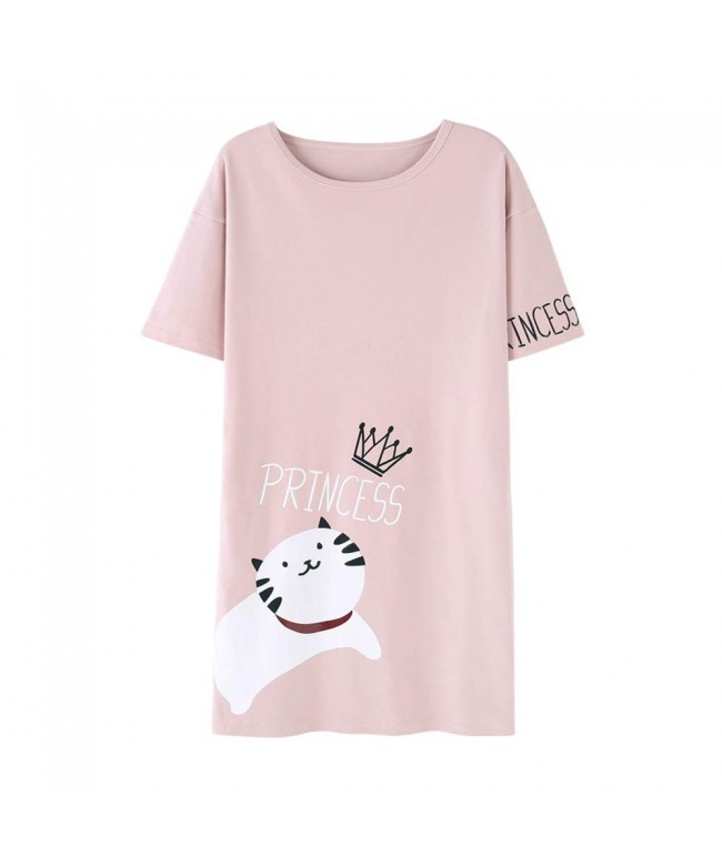 Hupohoi Cartoon Nightgown Pajamas Princess
