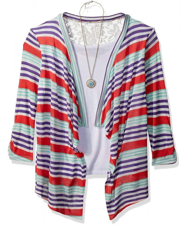 Amy Byer Girls Sleeve Cardigan