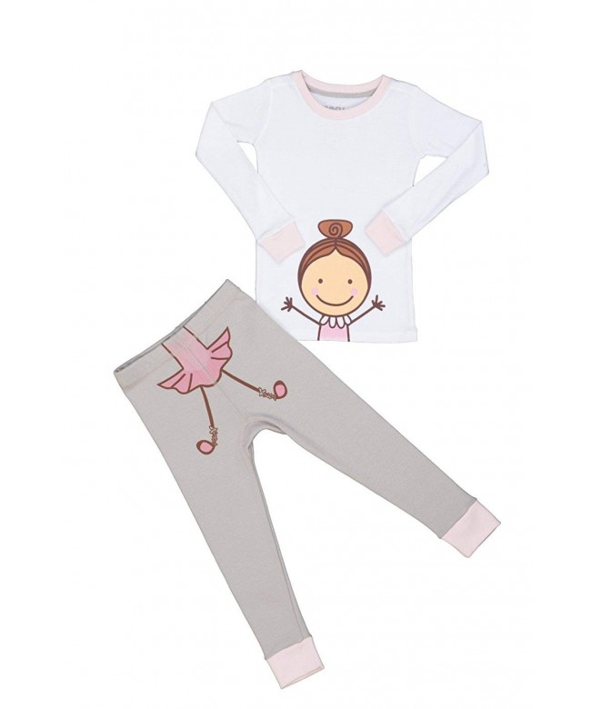 Meru Girls Ballerina Pajama Set