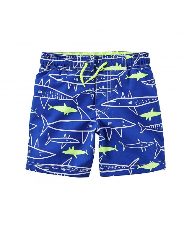 Carters Boys Neon Shark Trunks