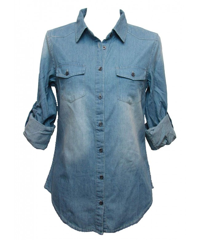 Noble Chambray Button Roll up Sleeves