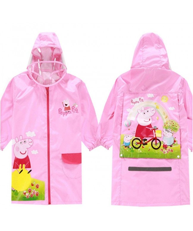 Children Cartoon Raincoat Poncho Slicker