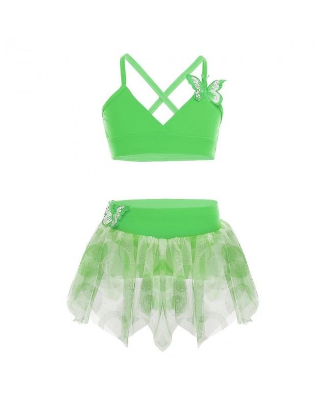 TiaoBug Butterfly Applique Swimsuit Swimwear