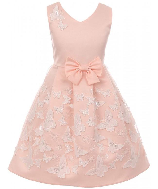 BluNight Satin Butterfly Flower Dress