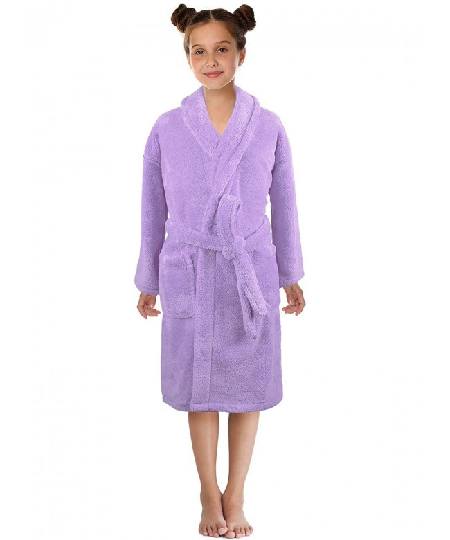 Ultra Soft Plush Shawl Robes Girls