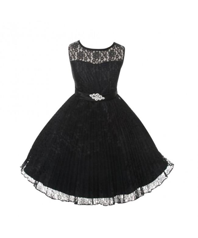 LSERVER Elegant Pleated Princess Vintage