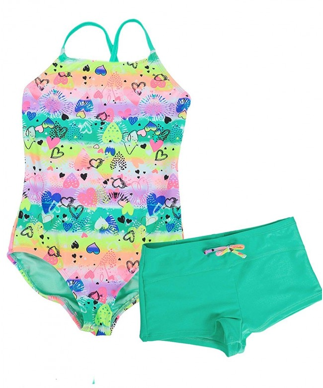 LEINASEN Swimsuits Colorful Printing Crossback