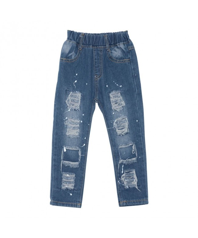KISBINI Girls Rippped Jeans Pants