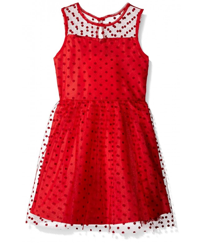 Marmellata Girls Illusion Party Dress