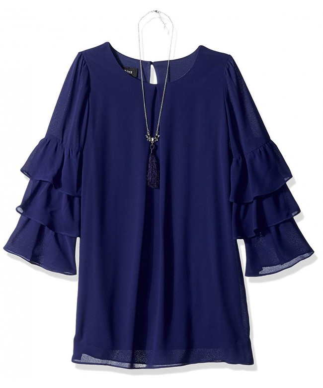 Amy Byer Girls Tiered Sleeves