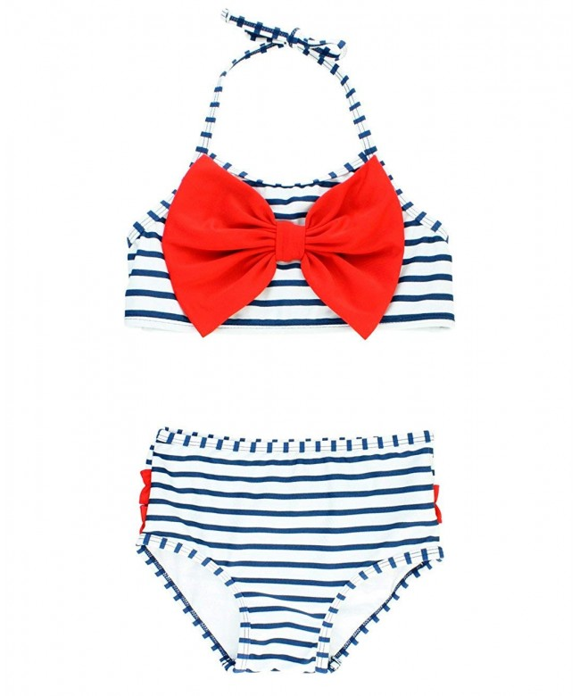 RuffleButts Little 2 Piece Swimsuit Ruffles