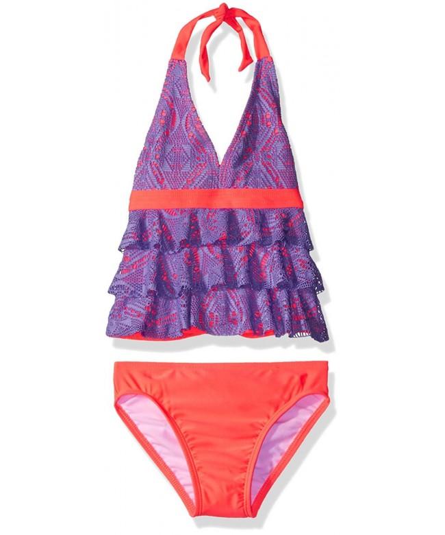 Freestyle Girls Crochet Tankini Swimsuit
