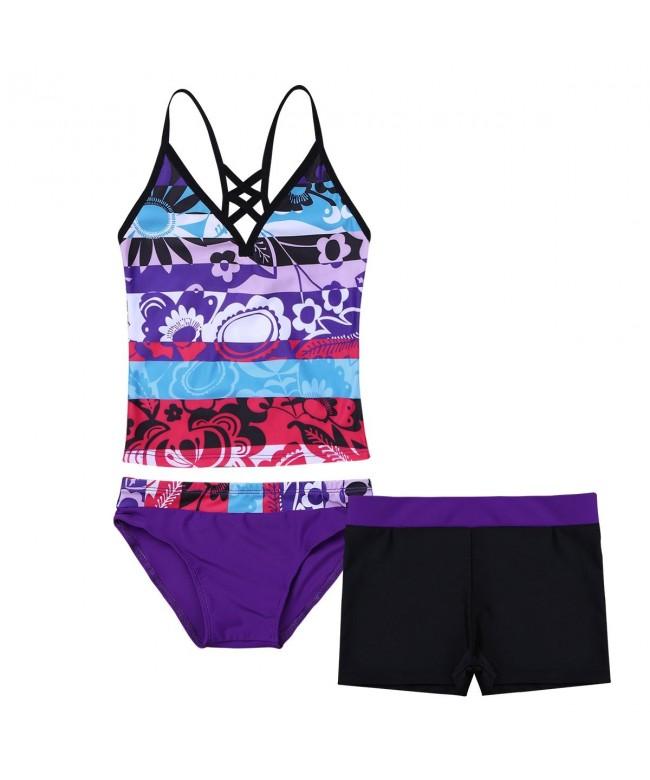 TiaoBug Summer Holiday Tankini Swimsuit