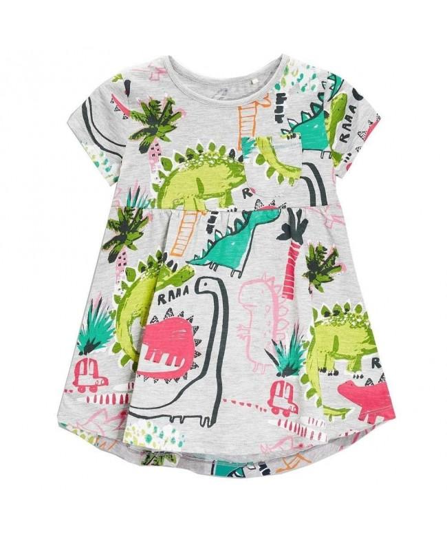 Frogwill Dinosaur Sleeve Summer Casual