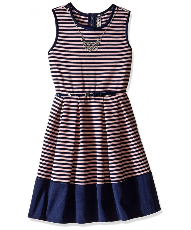 Beautees Girls Stripe Skater Dress