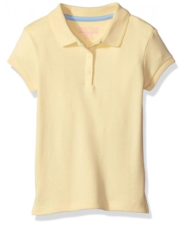 Nautica Girls Short Sleeve Polo
