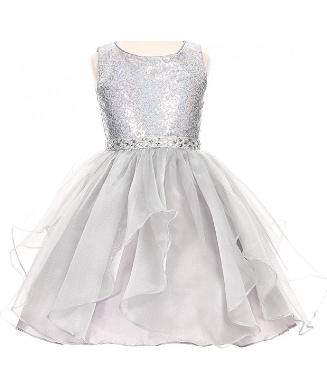 BluNight Collection Sparkling Organza Dresses