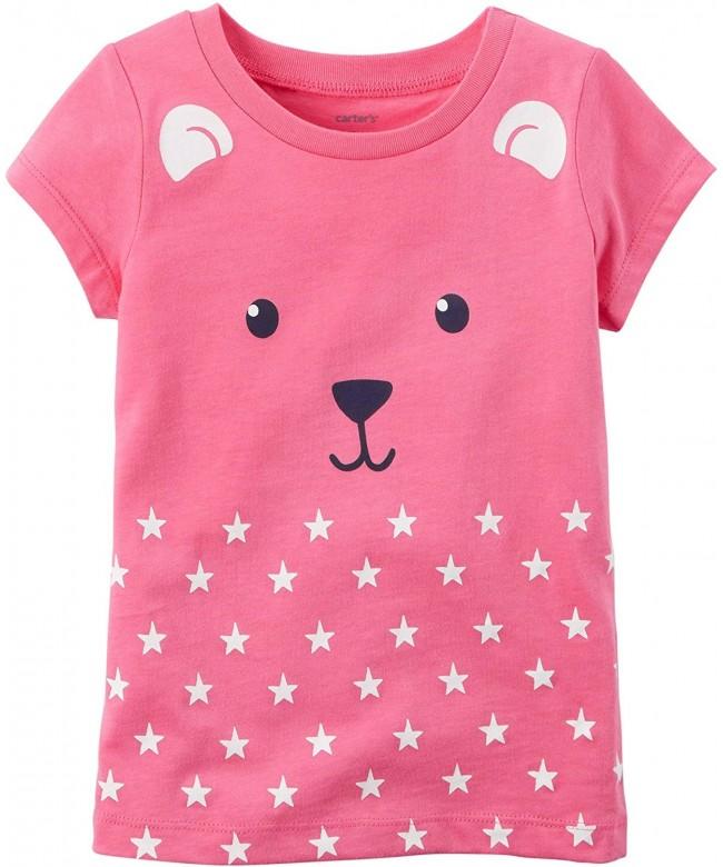 Carters Little Girls Bear T Shirt