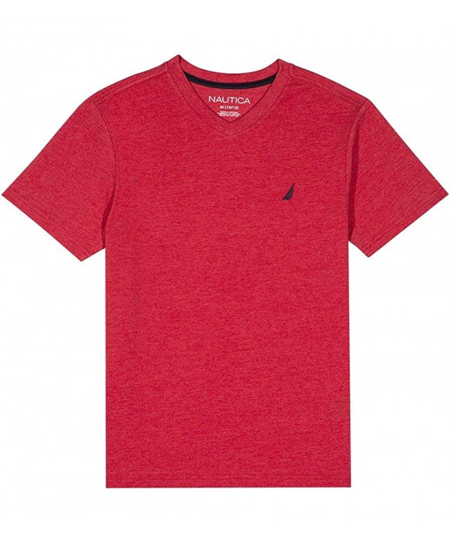 Nautica Short Sleeve V Neck T Shirt