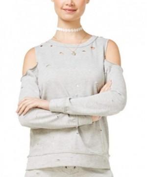 Almost Famous Juniors Cold Shoulder Sweatshirt