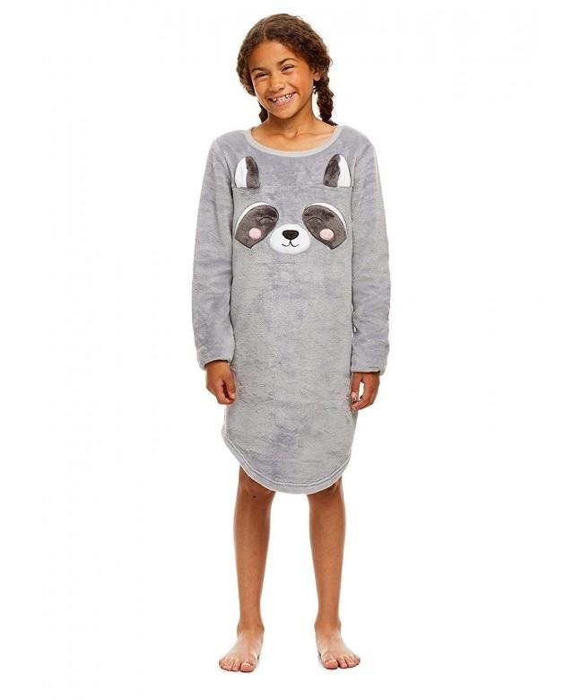 Girls Plush Fleece Nightgown Sleeve