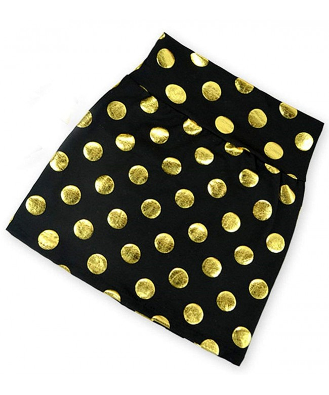Toddler Girls Gold Polka Skirts