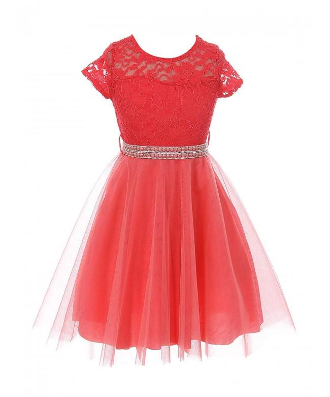 Flower Dress Tulle Skirt Pearl