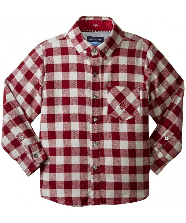 Andy Evan Hooded Flannel Shirt Toddler