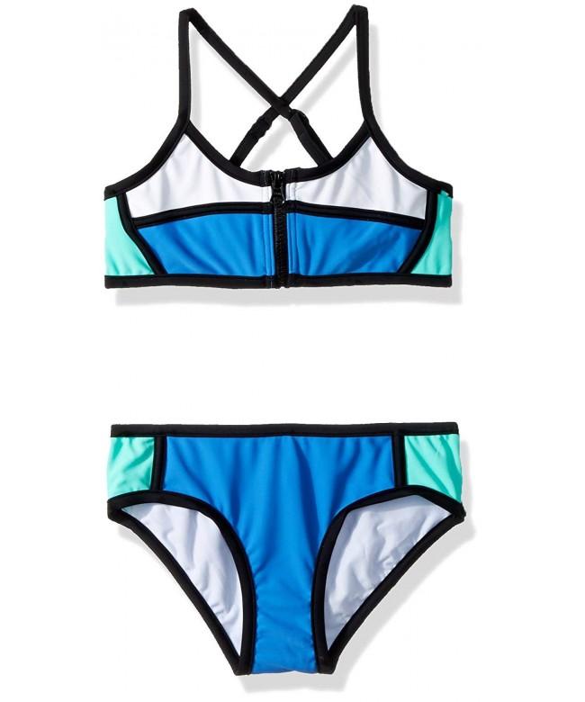 Seafolly Girls Colourblock Tankini Swimsuit