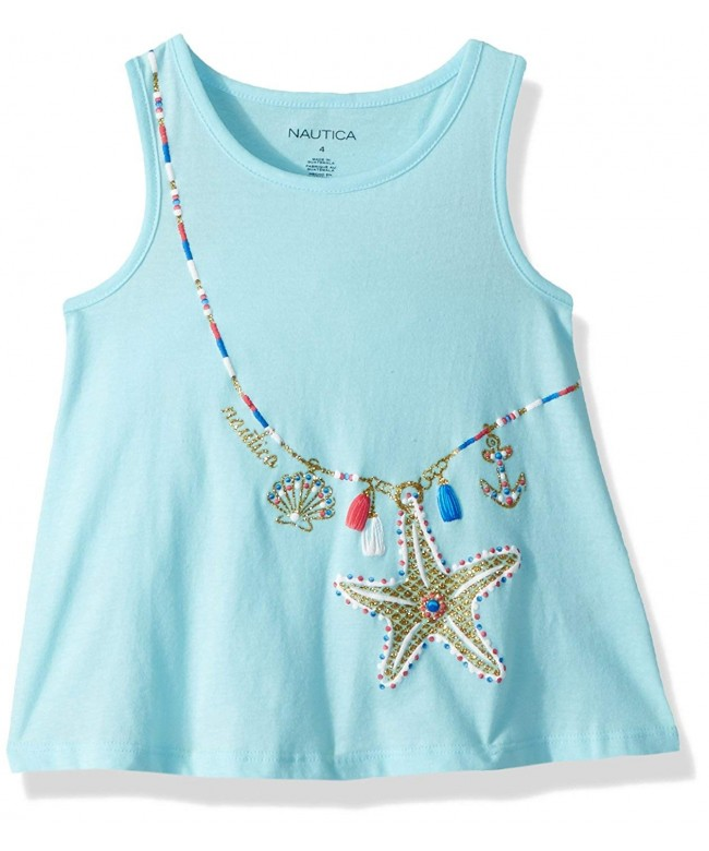 Nautica Girls Sleeveless Fashion Shirt