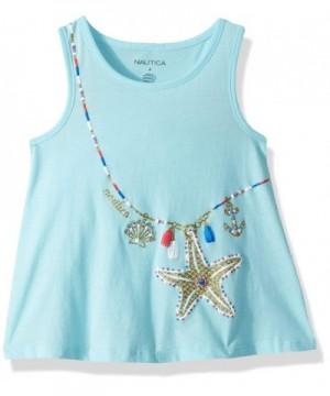 Nautica Girls Sleeveless Fashion Shirt