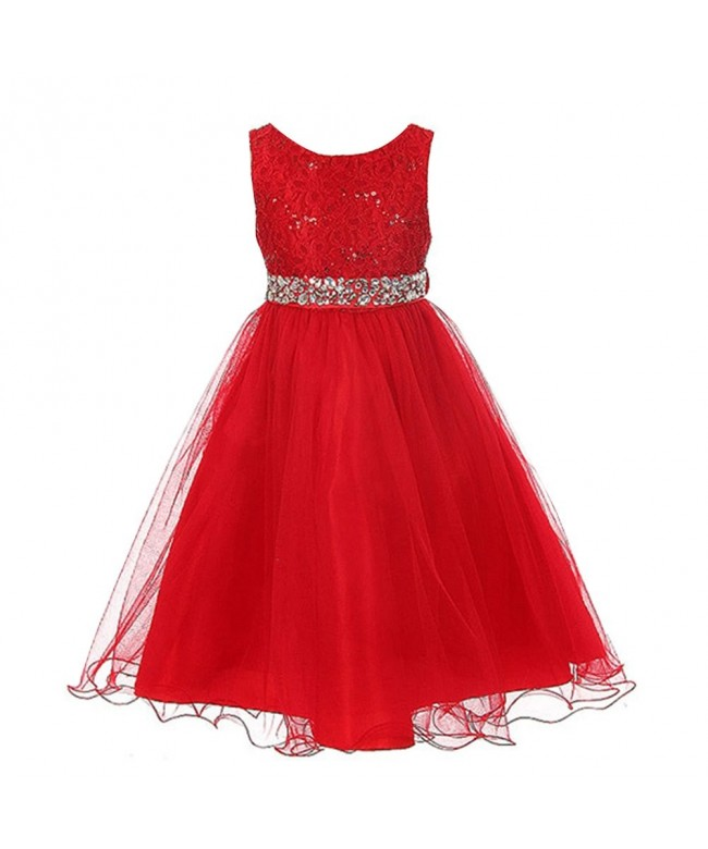 FREE FISHER Girls Sequins Formal